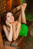 Menina ao ar livre Fotos de Stock Royalty Free