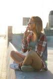 Menina ao ar livre Imagens de Stock