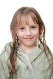 Menina após um chuveiro Fotografia de Stock Royalty Free