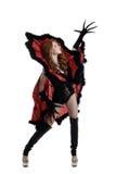 Menina artística no traje da rainha da aranha Foto de Stock Royalty Free