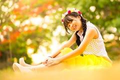 Menina asiática adolescente Imagens de Stock