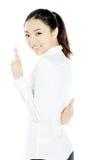 Menina asiática atrativa 20 anos de tiro velho no estúdio Imagem de Stock
