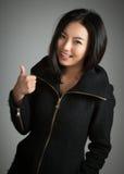 Menina asiática atrativa 20 anos de tiro velho no estúdio Imagens de Stock