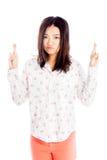 Menina asiática atrativa 20 anos de tiro velho no estúdio Foto de Stock