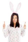 Menina asiática atrativa 20 anos de tiro velho no estúdio Imagens de Stock Royalty Free