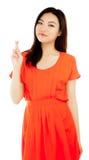 Menina asiática atrativa 20 anos de tiro velho no estúdio Imagem de Stock Royalty Free