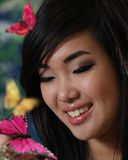 Menina asiática bonita Fotos de Stock Royalty Free