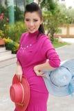 Menina asiática bonita do retrato Fotos de Stock Royalty Free