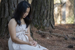 Menina asiática bonito imagem de stock