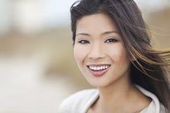 Menina asiática chinesa bonita da jovem mulher Foto de Stock Royalty Free