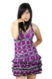 Menina asiática com pose 'sexy' Foto de Stock