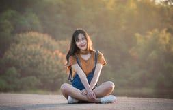 Menina asiática da mulher brilhante imagens de stock royalty free