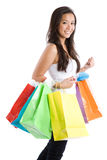 Menina asiática de compra Fotos de Stock