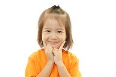 Menina asiática de sorriso foto de stock