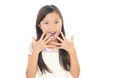Menina asiática de sorriso Imagem de Stock Royalty Free
