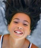 Menina asiática feliz imagem de stock royalty free