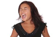 Menina asiática gritando Imagem de Stock