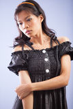 Menina asiática levantada Imagens de Stock Royalty Free