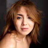 Menina asiática na manhã Fotos de Stock Royalty Free