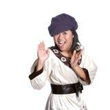 Menina asiática no gesto da surpresa Imagens de Stock Royalty Free