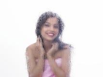 Menina asiática no quarto de vapor Foto de Stock Royalty Free