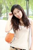 Menina asiática no verão Fotografia de Stock Royalty Free