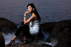 Menina asiática nova fotografia de stock