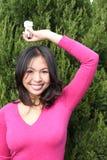 Menina asiática nova foto de stock