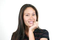 Menina asiática nova atrativa Fotos de Stock