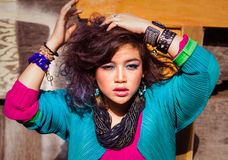 Menina asiática nova atrativa Foto de Stock Royalty Free