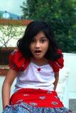 Menina asiática nova surpreendida Fotografia de Stock
