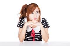 A menina asiática obtém furada Imagem de Stock