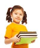 Miúdo inteligente com livros Foto de Stock Royalty Free