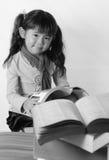 Menina asiática preta & branca Foto de Stock Royalty Free