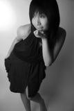Menina asiática que olha afastado imagem de stock royalty free