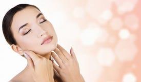 Menina asiática com pele fresca Fotos de Stock Royalty Free