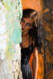 Menina assustador de Goth fotografia de stock