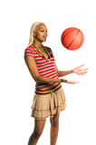 Menina ativa do basquetebol Imagem de Stock Royalty Free