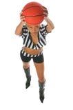 Menina ativa do basquetebol Fotos de Stock