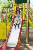 Menina ativa na plataforma do berçário no verão Imagens de Stock Royalty Free