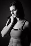 Menina atlética atrativa no Sportswear fotos de stock royalty free