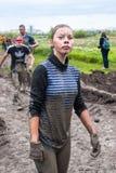 Menina atrativa na competência do extrime Fotografia de Stock Royalty Free