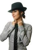 Menina atrativa no chapéu Foto de Stock Royalty Free