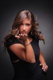 Menina atrativa que funde um beijo Imagens de Stock Royalty Free