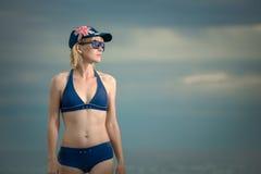Menina australiana na praia Imagem de Stock