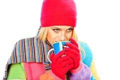 Menina bebendo Imagem de Stock