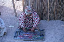 Menina beduína, deserto de Estern, Egipto Imagens de Stock Royalty Free