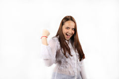 Menina bem sucedida do negócio Fotografia de Stock