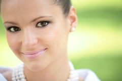 Menina bonita Charming fotografia de stock