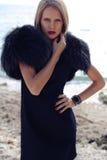 Menina bonita com cabelo louro Imagem de Stock Royalty Free